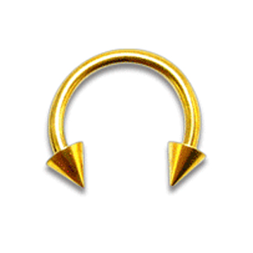 1.2mm Circular Barbell W/ Cones -kullanv�rinen L�vistyskoru