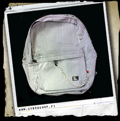 Stripe school bag with chain