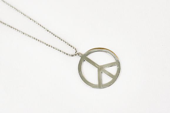 Peace -kaulakoru -hopea