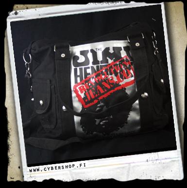 A.jimi Hendrix Bag -with Side Pockets -black