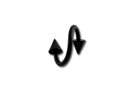 1.2mm Twister Ring W/ Cones -musta L�vistyskoru