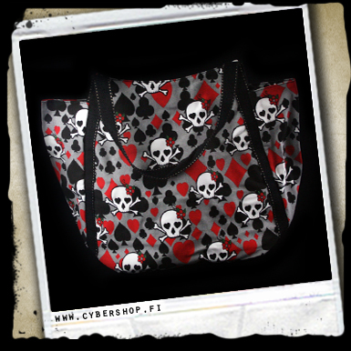 A. Skull bag-Grey-playingcard clubs