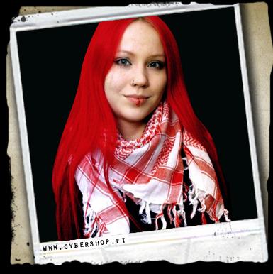 Palestine Scarf -White/red