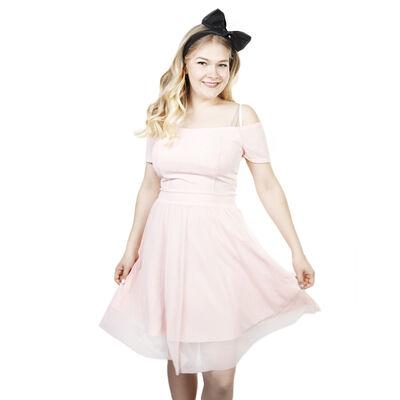 Vaaleanpunainen Off Shoulders Mekko 7e782782cb